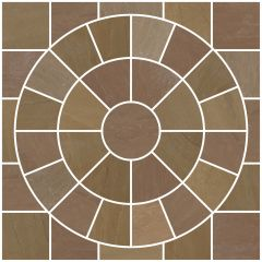 Tudor Oxford Circle Feature Paving Pack