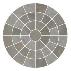 Light Grey Circle Feature Paving Pack