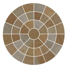 Buff Circle Feature Paving Pack