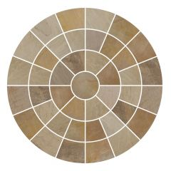 Golden Fossil Circle Feature Paving Pack