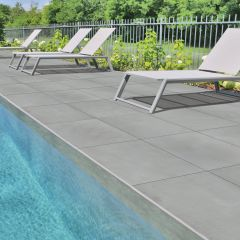 Smooth Grey Monviso Porcelain Paving Pack