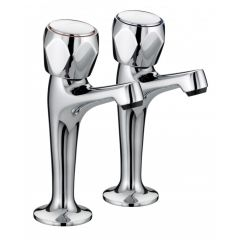 Bristan Club High Neck Pillar Taps (Pair)