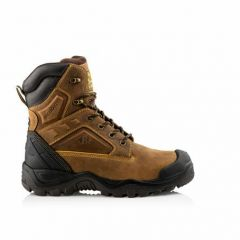 Buckler S3 Waterproof High Leg Steel Toe/Midsole Work Safety Boot Brown BSH011