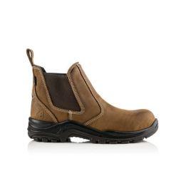 Buckler Dealerz Lightweight Safety Dealer Boot Brown - DEALERZ
