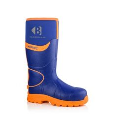 Buckbootz Hi-Viz Non-Metallic Ankle Protection Safety Wellington Boots Blue/Orange - BBZ8000 BL OR