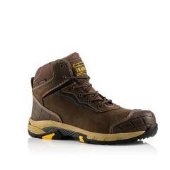 Buckler Tradez Blitz Lightweight Waterproof Metal Free Safety Boots Brown - BLITZ BR