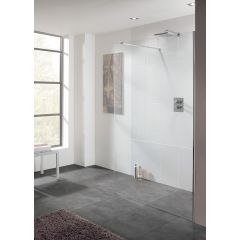 Lakes Cannes Walk in Shower Panel 10mm Glass 1100x2000mm - LK1010110S