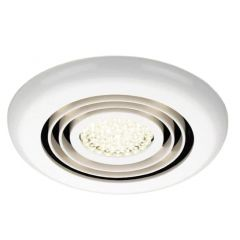 HIB Turbo Inline Fan,  White - Warm White LED 34000