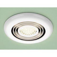 HIB Cyclone Wet Room Inline Fan, White - Warm White LED