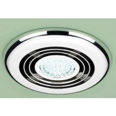 HIB Turbo Inline Fan, Chrome - Cool White LED 32300
