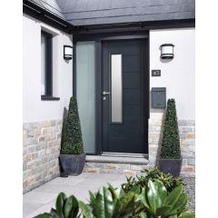 """2032x813mm (32"""") GRP Anthracite Grey Newbury Glazed External Door"""