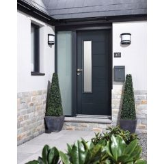 """1981x838mm (32"""") GRP Anthracite Grey Newbury Glazed External Door"""