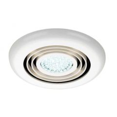 HIB Turbo Inline Fan, White - Cool White LED 32200