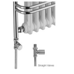 Vogue Arne Straight Towel Rail Valve Chrome