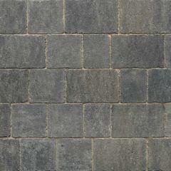 Stonemarket Trident Rumbled Concrete Block Paving-Charcoal-240x160x50mm