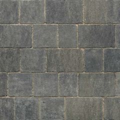 Stonemarket Trident Rumbled Concrete Block Paving-Charcoal-120x160x50mm