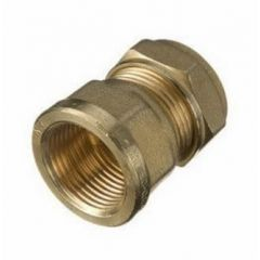 "Compression Cu x Female Iron Connector 10mm x 3/8"""