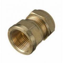 "Compression Cu x Female Iron Connector 15mm x 3/4"""