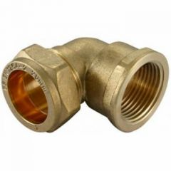"""Compression Cu x Female Iron Elbow 22mmx3/4"""""""