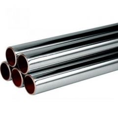 Len Chrome Plated Straight Copper Tube 3m x 15mm