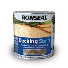 Ronseal Decking Stain 2.5L-Golden Cedar