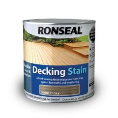 Ronseal Decking Stain 2.5L-Rich Mahogany