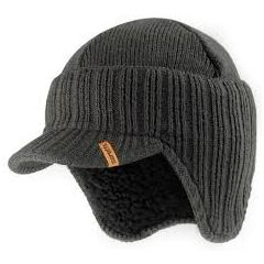 Scruffs Peaked Beanie Graphite Colourway