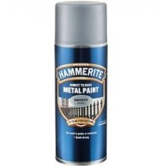 Hammerite Direct to Rust Metal Paint Aerosol - Smooth Finish-Black