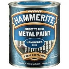 Hammerite Direct to Rust Metal Paint - Hammered Finish 750ml Black