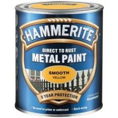 Hammerite Direct to Rust Metal Paint - Smooth Finish-250ml-Red