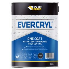 Everbuild Evercryl One Coat Black 5Kg