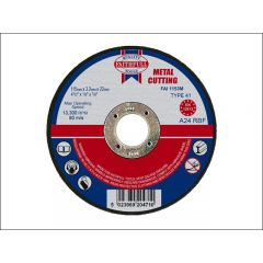 Faithfull Flat Metal Cut Disc 115x3.2x22mm 1153m