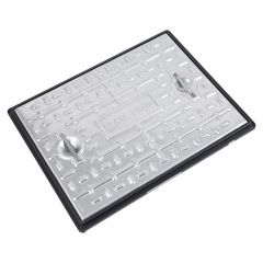 Galvanised Single Seal Manhole Cover & Frame 600x450mm 25T