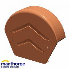 Manthorpe GDV-END-R Dry Verge Half Round Ridge End Cap Brown