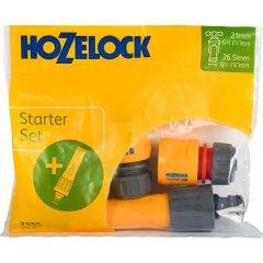 Hozelock fittings and nozzle starter set bag of attachments for garden hoses