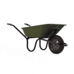 Haemmerlin 5000 GO Polypropylene Wheelbarrow with Pneumatic Tyre Green 90L