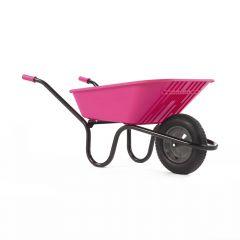 Haemmerlin 5000 GO Polypropylene Wheelbarrow with Pneumatic Tyre Pink 90L