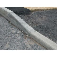 Half battered to Bull Nose Dropper Right Hand Kerb 125x255mm / 150mm