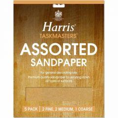 Harris Pack of 4 Sheets Coarse Sandpaper