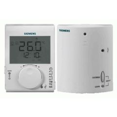 Siemens RDJ100RF/SET Digital (RF) Daily Digital Programmable Room Thermostat + Receiver