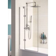 Lakes Coastline Hinged Bath Screen Right Hand 1000-1015x1500mm - SS105RS