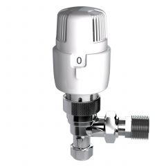 Inta i-therm 8/10mm White & Chrome Angled TRV