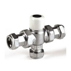 Intatec Thermostatic Mixing Valve 22mm 40022CEM TMV2/TMV3 with check valves