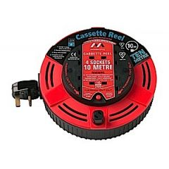 Jegs Cable Reel 10m 4 Gang Cassette Reel & Thermal Cut Out Ja075
