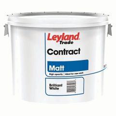 Leyland Contract Matt Emulsion Paint 10L brilliant white
