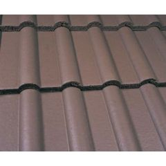 Marley Double Roman Roof Tiles-Smooth Brown