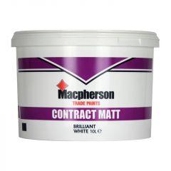 MacPherson Contract Matt Emulsion Paint 10 litre - Brilliant White