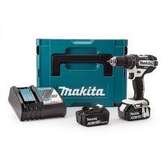 Makita Combi Drill C/W 2x 3AH Batteries, Charger & Case 18V