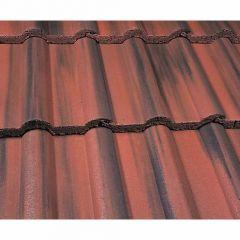 Marley Double Roman Roof Tiles-Dark Red Granular