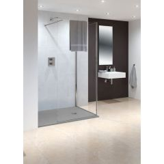 Lakes Marseilles Walk in Shower Panel 850x200mm - LK815085S